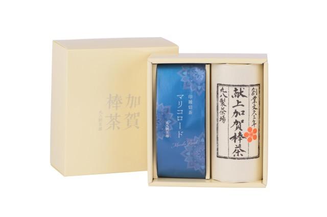 茎のほうじ茶「献上加賀棒茶」と秋冬限定商品「印雑焙茶 マリコロード」の詰合せです。